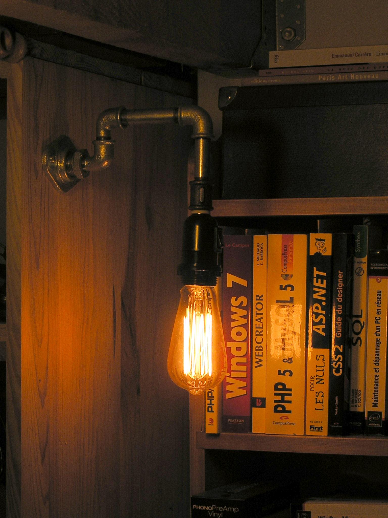 Luminaires marcel le plombier design industriel atelier d coration steampunk - Applique ontwerp industriel ...